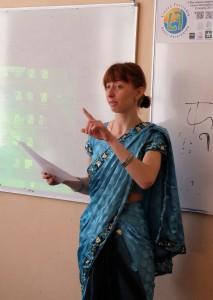Евгения Ренковская в сари