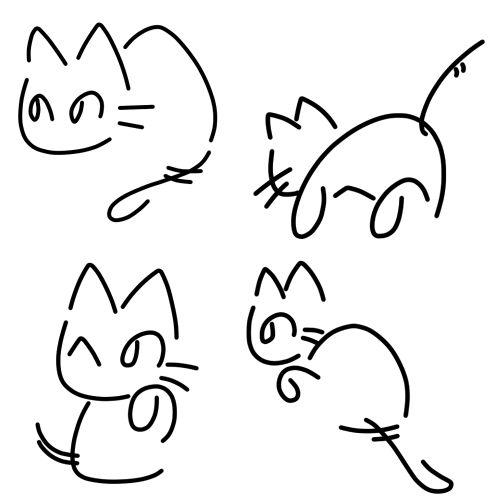 Котики на тему японского письма