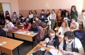 Публика на презентации эсперанто