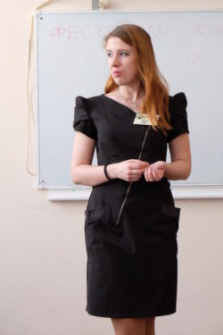 Дарья Меш на фестивале языков